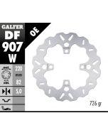 Galfer Standard Solid Mount Wave Rotor, Rear '15-'16 Triumph Street Triple RX
