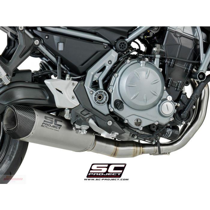 SC-Project Full Exhaust w/ SC1-R Muffler 2017-2018 Kawasaki Z650