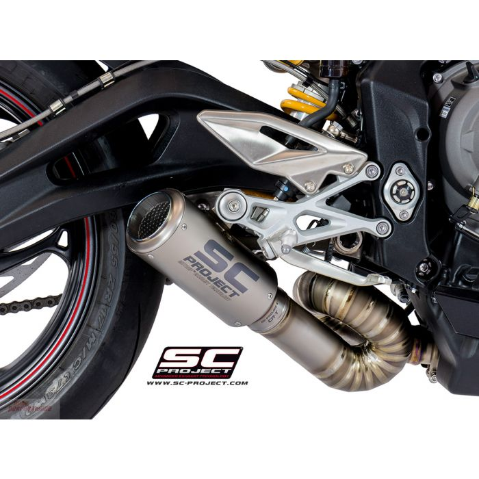 SC Project CR-T Exhaust Triumph Street Triple 765 S / R / RS