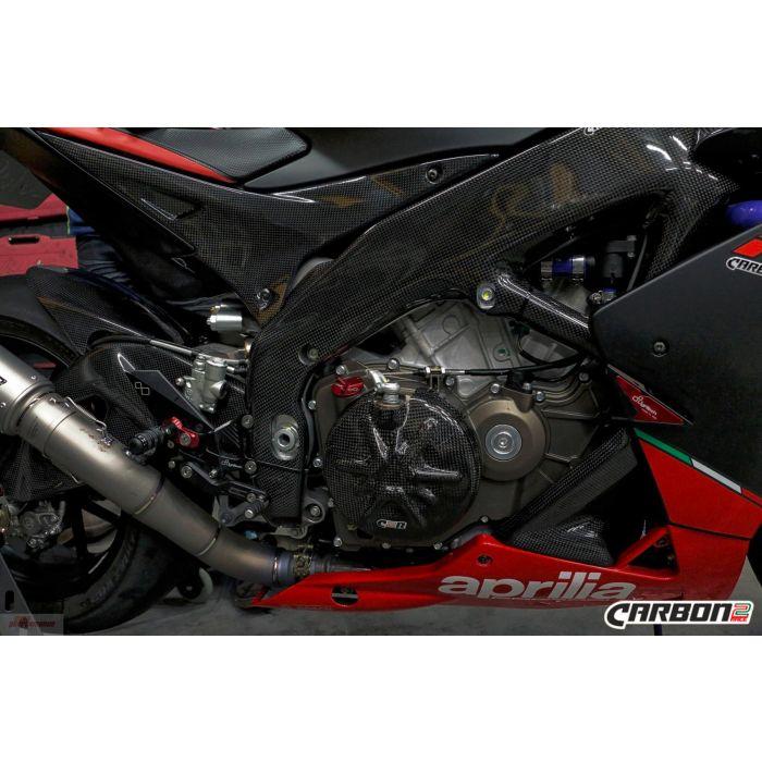 Carbon protection set Aprilia RSV4 2009-2014 frame + swingarm covers