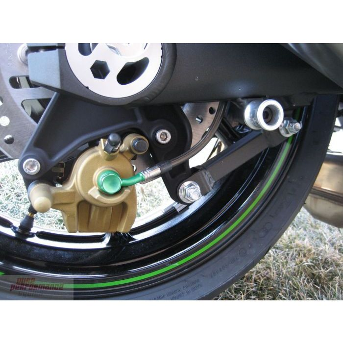 Kawasaki Green Hose /& Stainless Banjos Pro Braking PBR0301-KAW-SIL Rear Braided Brake Line