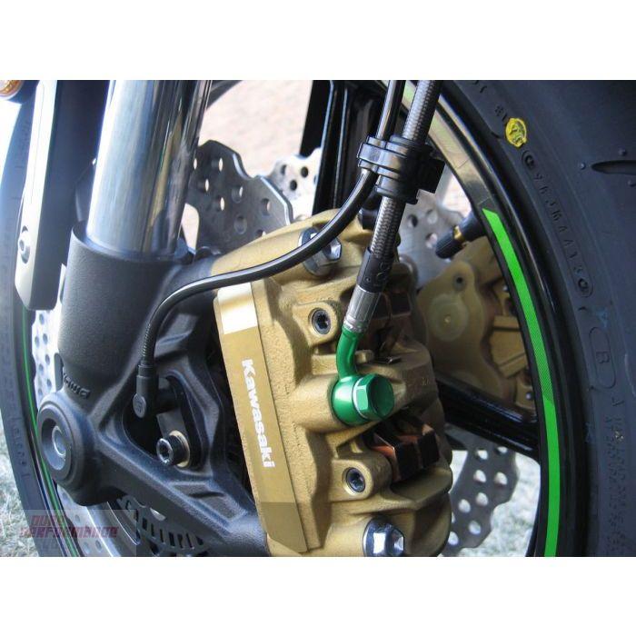 Kawasaki Green Hose /& Stainless Gold Banjos Pro Braking PBF9773-KAW-GOL Front Braided Brake Line
