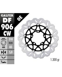 Galfer Standard Floating Wave Rotor, Front '15-'16 Triumph Street Triple RX