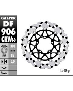 Galfer Superbike Wave Rotor - Directional '07-'15 Triumph Daytona 675/R