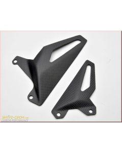 Shift-Tech Carbon Fiber Heel Guard Set - Ducati Panigale V4/S