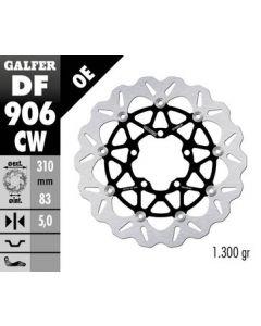 Galfer Standard Floating Wave Rotor, Front '07-'15 Triumph Daytona 675/R