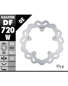 Galfer Standard Solid Mount Wave Rotor, Rear '05-'15 BMW R1200GS