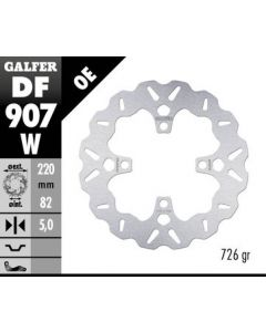 Galfer Standard Solid Mount Wave Rotor, Rear '16- Triumph Thruxton 1200 R