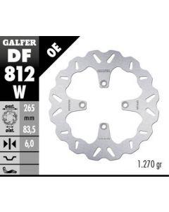 Galfer Standard Solid Mount Wave Rotor, Rear '10-'16 Ducati Multistrada 1200