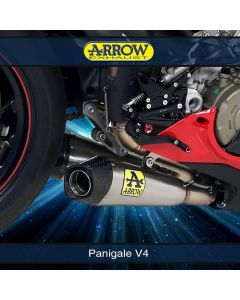 Arrow Works Titanium Silencers Kit for Original Collectors Panigale V4