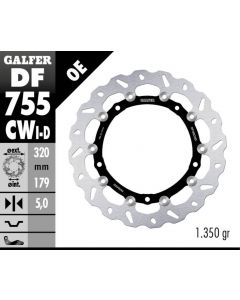Galfer Standard Floating Wave Rotor - Directional '15- BMW S1000 XR