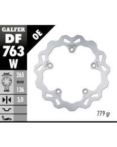 Galfer Standard Solid Mount Wave Rotor, Rear '13- BMW R nineT