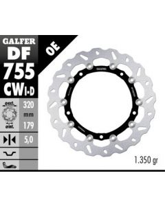 Galfer Floating Wave Rotor - Directional '09-'16 BMW S1000RR / S1000R