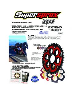 Supersprox Edge 525 (OEM) Chain & Sprocket Kit 2018-2020 Ducati Panigale V4