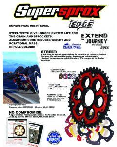 Supersprox Edge Rear Sprocket 525 (OEM) 2014-2016 Ducati Hypermotard 821 / Hyperstrada 821