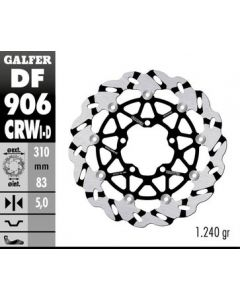 Galfer Superbike Wave Rotor - Directional '16- Triumph Thruxton 1200 R