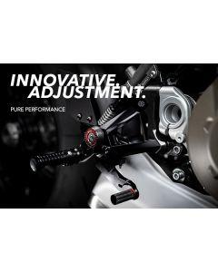 Gilles Tooling MEU2 GT Adjustable Rearset 2020- Ducati Streetfighter V4