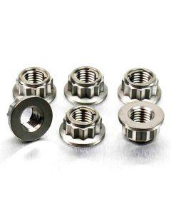 Pro-Bolt Titanium Sprocket Nuts M10x(1.25mm) Bi-Hex Lock Pack x6 Triumph Thruxton 1200 R