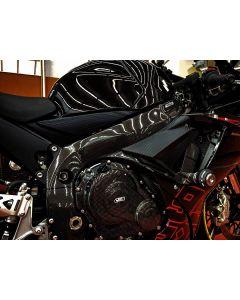 Carbon2Race Carbon Fiber Frame Covers 2011-2016 Suzuki GSX-R600 / 750