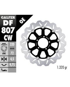 Galfer Standard Floating Wave Rotor '10-'16 Ducati Multistrada 1200