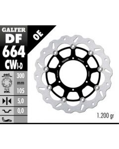 Galfer Standard Floating Wave Rotor - Directional '06-'17  F800 GS
