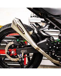 Hindle EVO Megaphone Slip-On Exhaust '18- Kawasaki EX400 Ninja