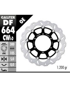 Galfer Standard Floating Wave Rotor - Directional '13-'15 BMW F700 GS