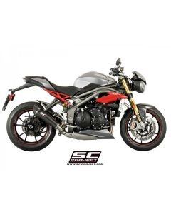 SC-Project Low Mount Carbon Conic Exhaust 2016-2017 Triumph Speed Triple R/S