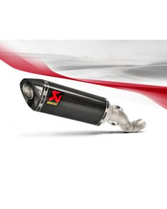 Akrapovic Slip-on Exhaust (Carbon) 2015-2016 Aprilia RSV4 RR / RF